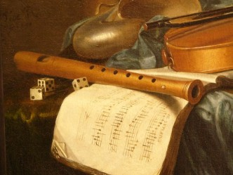 Pieter de Ring - Still life with musical instruments